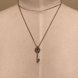 Hear key necklace